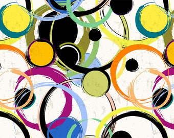 PLACEMAT semi-rigid ORIGINAL AESTHETIC WASHABLE and durable - modern - abstract - circles and dots.