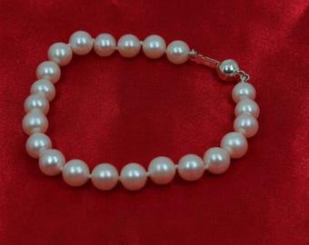Freshwater Pearl Bracelet Sterling Silver 925 7.0mm