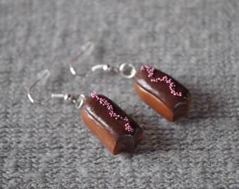 "Earrings ""my chocolate eclairs"" - lightning Fimo"