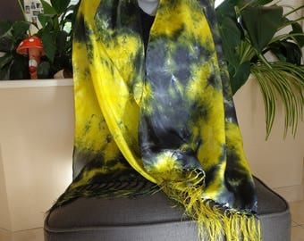 LARGE 100% silk scarf hand painted