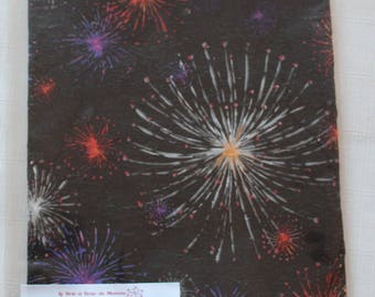 Fireworks decorated foam sheet