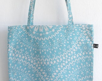 Tote bag, grocery Tote, Tropical print linen
