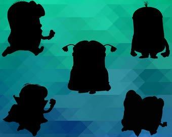 Minions ClipArt – 10 (Png, Jpg, Svg, Eps files) – 300 PPI – Minions Decoration – Minions Printables – Minions Birthday – Minions Invitation