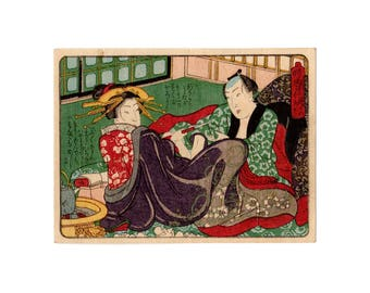 Tenth lunar month (Unknown author) N.1 shunga woodblock print