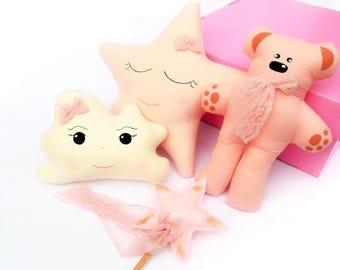 Baby girl, baby girl set, girls bedroom decor, girls bedroom, newborn boy set, baby girl gift, personalized pillow, baby set, newborn set