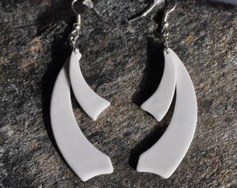 Limoges porcelain earring