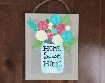 Burlap Canvas Wall Hanging