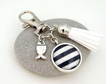 SAILOR BLUE - PC006 BAG CHARM KEY RING