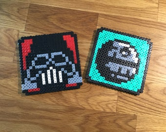 Star Wars coasters DeathStar and Darth Vader