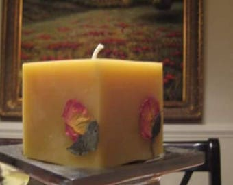 Rose Beeswax Candle