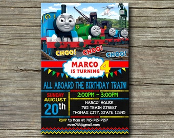 Thomas The Train Invitation,Thomas The Train Birthday,Thomas The Train Birthday Invitation,Thomas The Train Party,Thomas The Train-424