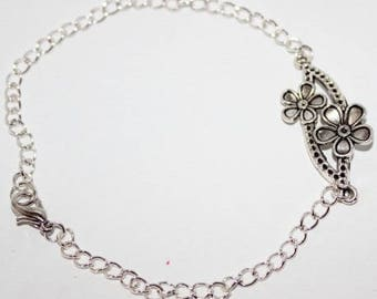 Silver ankle chain