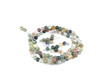 30 LBP00049 4mm natural Indian agate beads