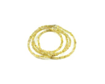 5 diamond (not treated) natural raw brass beads approximately 2 to 3mm