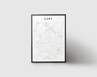 Cary Map Print