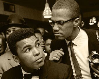"Muhammed Ali and Malcolm X poster (11""x17"")"