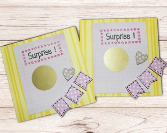 """invitations, cards, scratch to announce a birth """"Grandma"""" (set of 2)"""