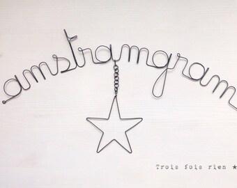"""Message fil de fer """"Amstramgram"""""""