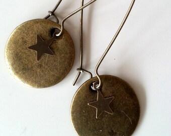 Tan earrings 2