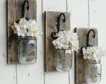 Mason Jar Flower Wall Art