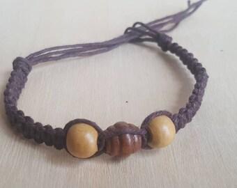 Hemp and Bead Bracelet