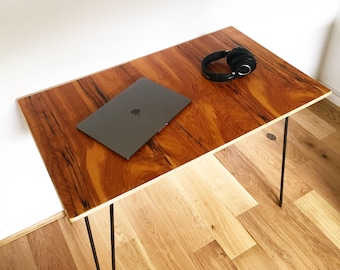 Industrial Plywood Desk, Office Desk, Retro Desk, Spalted Veneer