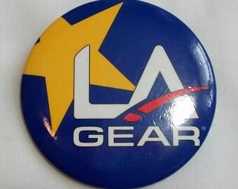 Vintage LA Gear Button, Badge, Pin, Advertising