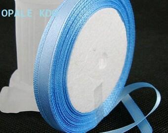 Length 6 mm width 22 m 80 blue satin ribbon