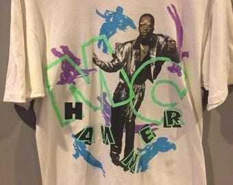 90s MC Hammer neon tshirt
