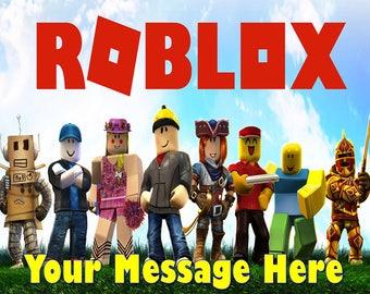 Roblox  Party ! Edible Cake Topper Edible Image Frosting Sheet - Quarter , Half Sheet , Round , Strips Sizes