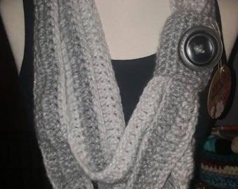 The frosty skinny infinity scarf
