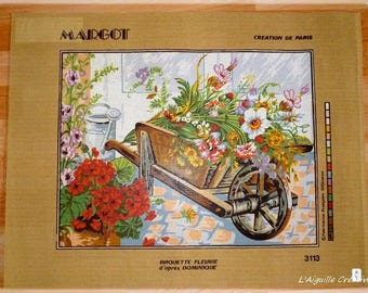 New canvas wheelbarrow floral 50 x 65 cm