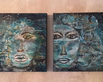 Two paintings as a set on sale
