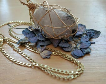 Geode Caged Necklace