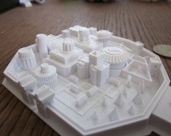 Rare and Unique Collectible Winterfell from Game of Thrones 3D printed in white eco- friendly PLA plastic