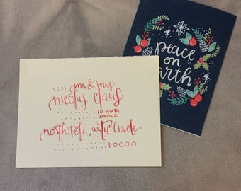 Christmas Bouncy/Print Mixed Calligraphy-- Full Name
