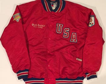 Vintage 1988 USA Olympics Paralympics Coat Jacket worn by Genie Kriebel in Seoul South Korea