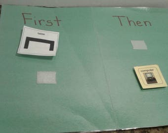 Laminated first then board, behavior management, back to school, Classroom expectations, transition visual, autism, special education