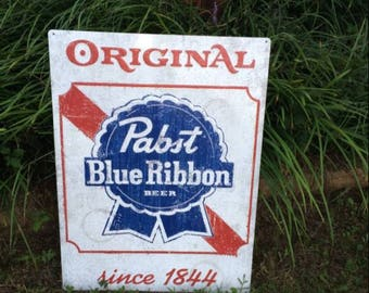 PBR Pabst Blue Ribbon Beer Sign