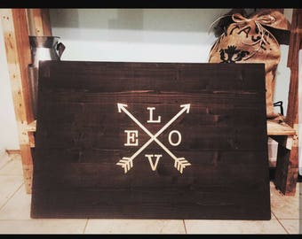 Love Arrow Wall Plaque