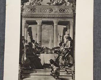 Tiepolo. Antony and Cleopatra. 1920's antique print