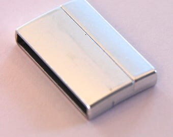 LARGE MAGNETIC CLASP SILVER 3.2 X 2CM
