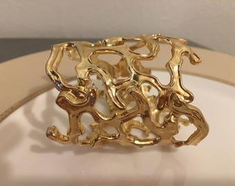 Golden Limb Cuff Bracelet