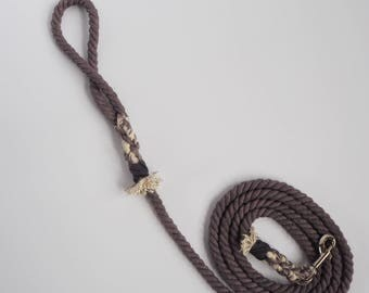 Grey Skies - Rope Dog Lead