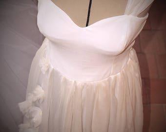 Romantic wedding dress pattern Bohemian Anemone