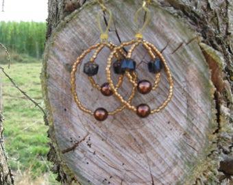 chocolate Baroque earrings