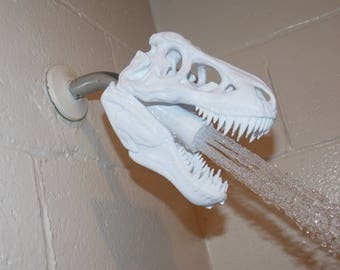 T-REX Skull Shower Head / 3D Printed / bathroom / prehistoric / Tyrannosaurus Rex
