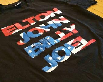 Vintage 1995 Elton John x Billy Joel Tour T-shirt / Made in USA / Rock Shirt / Tour Shirt / Vintage Rock Tee