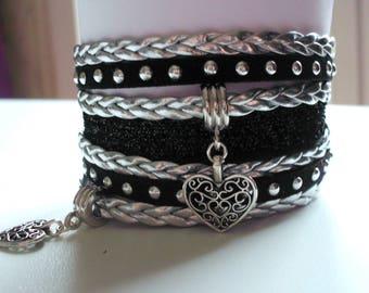Bracelet liberty, black and gray 35 mm