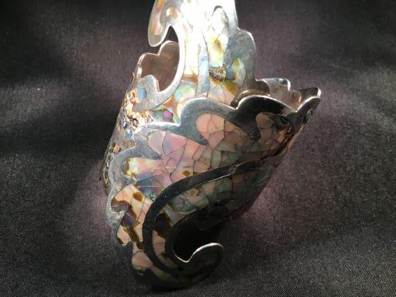 Abalone Sterling Clamper Cuff Bracelet